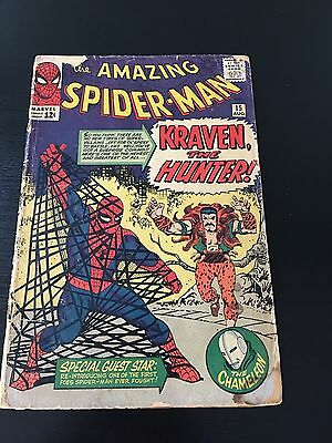 Amazing Spider-Man #15 (1964, Marvel) 1st App Kraven, Stan Lee, Ditko Comic