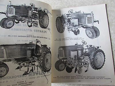 Vintage Oliver 1057 & 1058 Planter Attachment Parts Book Oliver 66 77 Tractor