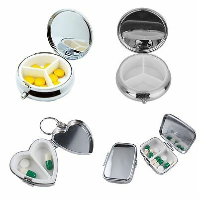 Care Organizer Metal Tablet Storage Case Pill Box Medicine Container Holder