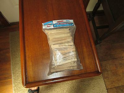 Penley Vintage Wooden Clothespins  50 Pins Made In Usa Never Opened