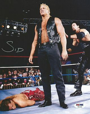 Wwe Wwf Sycho Sid Justice Hand Signed 8X10 Autographed Photo