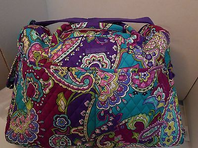VERA BRADLEY Weekender HEATHER Purple Travel Carry On Overnight Bag NWT