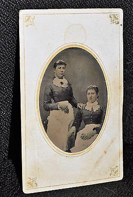 Beautiful Occupational LADY MAIDS SERVANTS Tintype Daguerreotype Antique photo