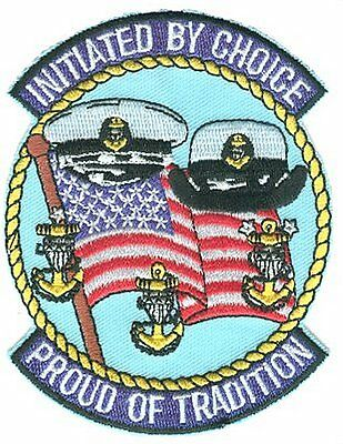 Initiated By Choice Proud of Tradition Chiefs AH144P USCG Coast Guard patch