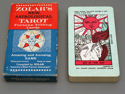 VINTAGE 1960's ZOLAR'S NEW ASTROLOGICAL TAROT FORTUNE TELLING CARDS