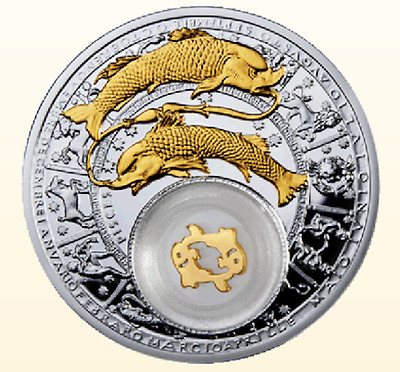 Belarus 2013 20 rubles Pisces 28,28g Proof Silver Coin