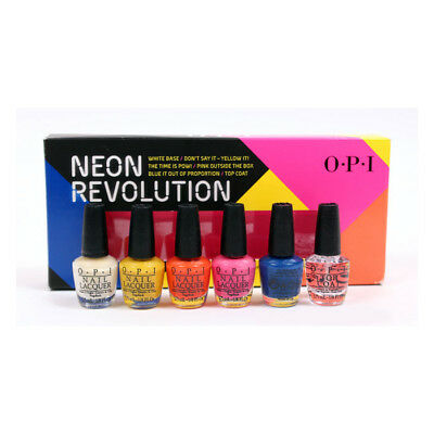 OPI Neon Revolution Mini Gift Set Value Pack Nail Polish Lacquer Enamel Varnish