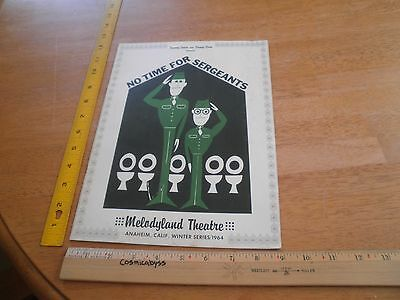 No Time for Sergeants Melodyland 1964 play program Jerry Van Dyke