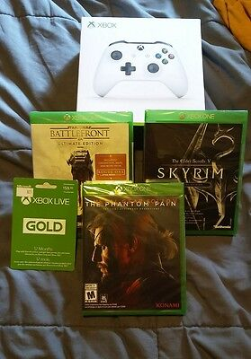 Xbox One Game Lot Plus Controller & 12 Month Live All New