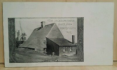 Postcard RED LETTER Private MAILING CARD Postal Card JACKSON HOUSE PORTSMOUTH NH