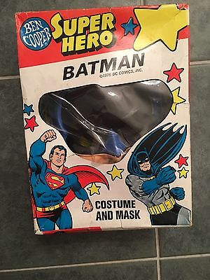 Vintage 1976 Ben Cooper Batman Costume and Mask in Original Box ADAM WEST