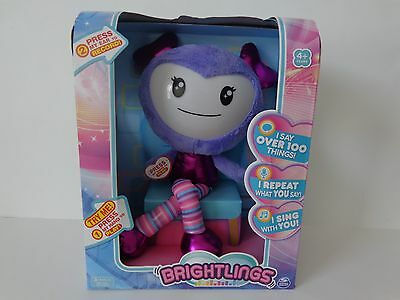 Brightlings Interactive Singing Talking  Plush Purple Toy  Brand New