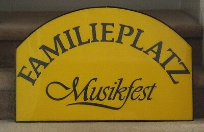 """Vintage Early Sign from MUSIKFEST """"Familieplatz"""" BETHLEHEM PA - rare"""