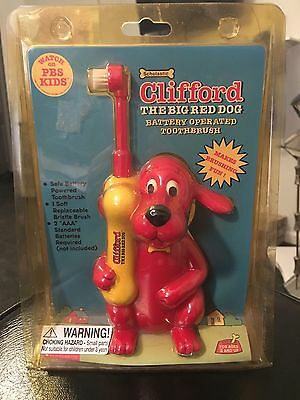 VTG Clifford the Big Red Dog Battery Operated Toothbrush PBS Sealed