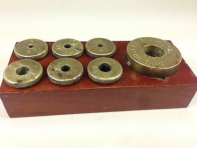 Antique Rare Solid Brass Screw In Counter Weights Patd July 6th, 1897