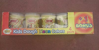 Kids play dough -  Neon colors 5 in Pack -  NEW
