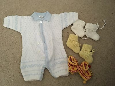 Baby Knitted Coverall And Booties