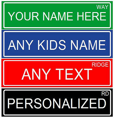 "Make Your Own  2 Sided Personalized Aluminum  Metal Custom Street Sign, 6""x24"""