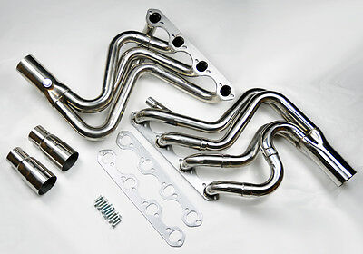 Ford F150 F250 Bronco 87-96 5.8L V8 Tubular Stainless Exhaust Manifold Headers
