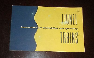 Instructions For Assembling and Operating Lionel Trains  1952