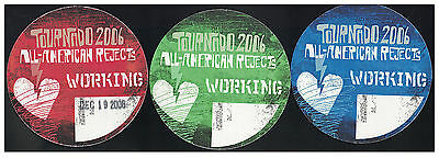All American Rejects Tour Backstage Pass -Staff/working! Set Of 2!