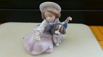 Lladro Figurine girl with her dog