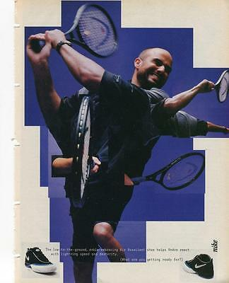 Rare Vintage Print Ad For 1998 Nike Air Assailant Andre Agassi Tennis Shoes