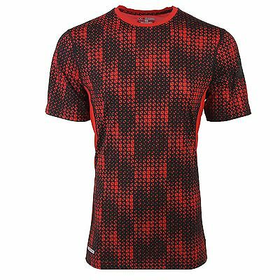 Under Armour Men's HeatGear Sonic Printed Fitted T-Shirt Red/Black L