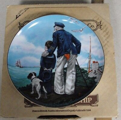 """Norman Rockwell """"Looking Out To Sea"""" Royal Eaton Plate #SFRM-RE31"""
