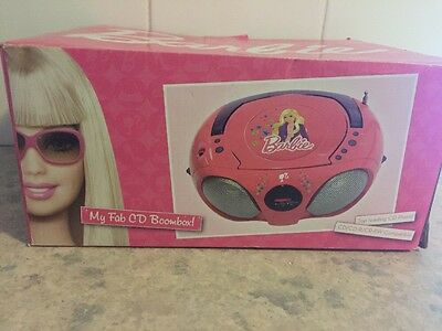 Barbie My Fab Cd Player/ Boombox New In Box