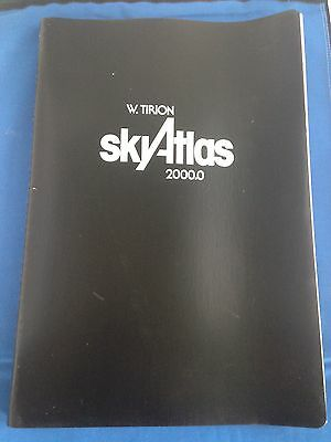 W. Tirion Sky Atlas 2000.0 1982 Deluxe Edition 26 Charts + Transparency Overlay