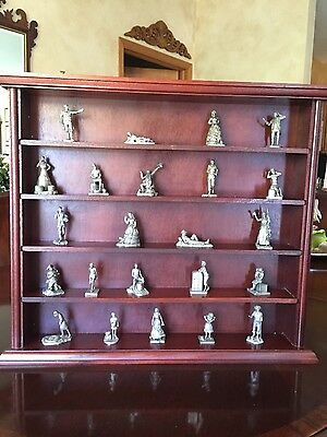 Franklin Mint Pewter Figurines- Saturday Evening Post (23 pieces) with Shelf