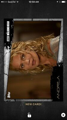 Topps Walking Dead Card Trader Close Up Andrea Wave 3