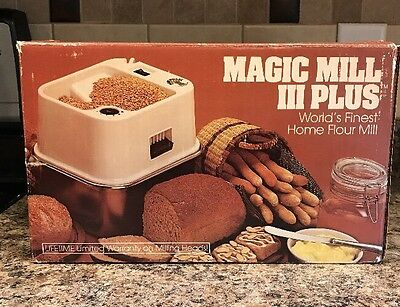 Magic Mill 3 III Plus High Speed Wheat Grinder Flour Mill with Box No Filter