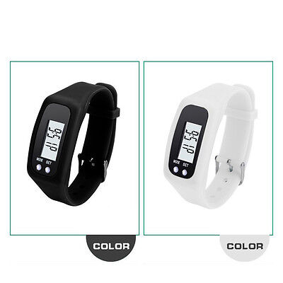 LED Watches Run Step Walking Distance Pedometer Calorie Counter Fitness Tracker