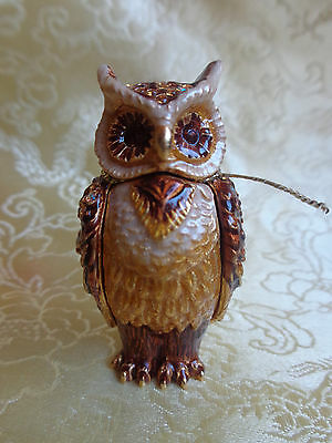 Estee Lauder 2010 Wise Ole Owl Solid Perfume Compact Strongwater