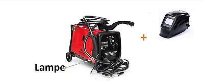 150A MIG - Mag Pro GMAW Welding Power Supply Lamp CO2 230 Volt + Welding Mask