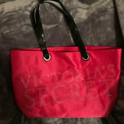 Victoria's Secret Pink Black Bling Weekender Large Travel Tote Beach Bag
