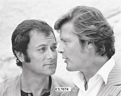 Tony Curtis and Roger Moore on the Set of TV Series 'The Persuaders!' Photo