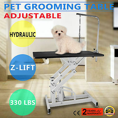 Z-lift Hydraulic Dog Cat Pet Grooming Table Heavy Duty Height Adjustable w/Noose