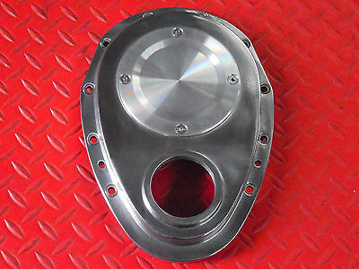 Small Block Chevy 2-Piece Aluminum Timing Chain Cover With Removable Plate