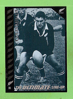 """1995 New Zealand  All Blacks Rugby Union Card  #31  Colin """"pinetree""""  Meads"""