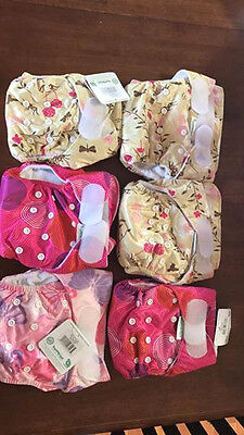 6 Bumkins cloth diapers new one size