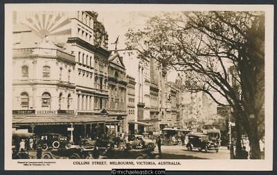 Melbourne, Collins Street view 1920s Issued to American Fleet by Comm. Govt