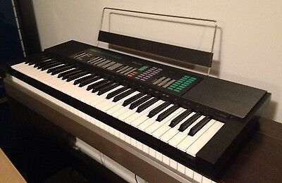 Vintage Yamaha PSR-32 Piano Keyboard Synthesizer Synth Stand & Power Adaptor