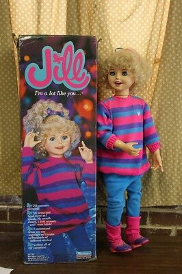 "1987 Playmates INERACTIVE JILL 33"" DOLL Vintage TALKING estate sale"