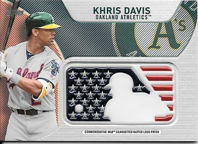 KHRIS DAVIS 2017 Topps Series 2 INDEPENDENCE DAY MLB LOGO PATCH RELIC Athletics