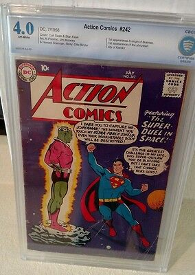 Action Comics #242 Cbcs 4.0 1St Appearance Of Braniac       Not Cgc