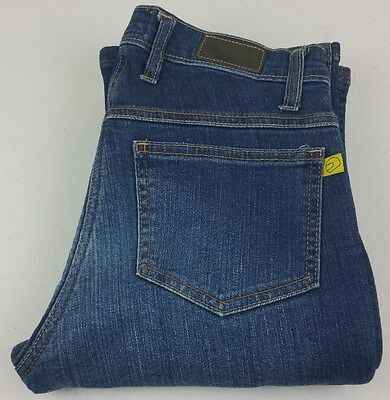 Draggin Womens Motorcycle 100% Kevlar Lining Blue Jeans - Size: 8