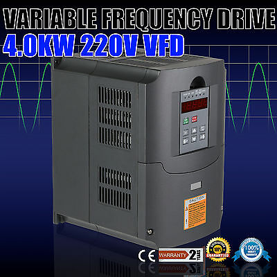 4KW 5HP VFD 3Phase 208-240V 10A Variable Frequency Drive Inverter ISO